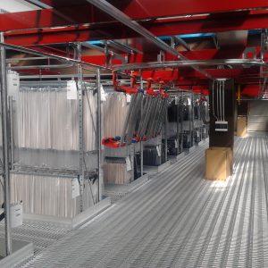 Clothing storage warehouses